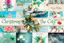 Christmas In The City / A Christmas In The City themed scrapbook kit from Raspberry Road Designs.  / by Raspberry Road Designs