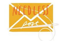 N E E D L E S S   P O S T / An inspiration board for #NeedlessPost, a pass it on postal embroidery project between cities and strangers.  Currently happening in Bristol, London & Leeds, Liverpool, York, Belfast, Birmingham, Brooklyn, Bari, Tokyo!