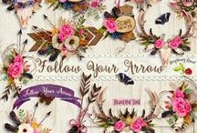 Follow Your Arrow Scrapbook Kit / A beautiful rustic bohemian style scrapbook collection from Raspberry Road Designs. / by Raspberry Road Designs