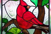 Stained glass art / Examples and ideas for stained glass pieces / by Brenda Trimble