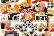 Movie Night Scrapbook Kit / by Raspberry Road Designs