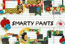 Smarty Pants Scrapbook Kit / A school themed scrapbook collection filled with everything you need to documents your little ones school days. / by Raspberry Road Designs