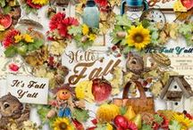 Hello Fall Collection / A beautiful Autumn themed scrapbook collection. / by Raspberry Road Designs