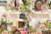 Family Gathering Collection / A beautiful family gathering themed scrapbook collection. / by Raspberry Road Designs