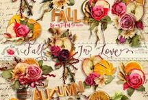 Fall In Love Scrapbook Collection / Romantic Fall themed scrapbook collection from Raspberry Road designs. / by Raspberry Road Designs