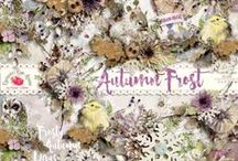 Autumn Frost Scrapbook Collection / A beautiful Fall/Winter themed scrapbook kit with a gorgeous watercolor look and feel. / by Raspberry Road Designs