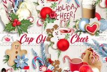 Cup Of Cheer Christmas Scrapbook Kit / by Raspberry Road Designs