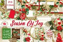 Season Of Joy Scrapbook Collection / A traditional style Christmas scrapbook collection. / by Raspberry Road Designs