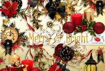 Merry & Bright Scrapbook Kit / A beautiful Christmas & New Years themed scrapbook collection.