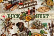 Duck Hunt Scrapbook Collection / A hunting themed scrapbook collection. / by Raspberry Road Designs