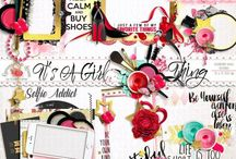 It's A Girl Thing Collection / A feminine style scrapbook collection from Raspberry Road. / by Raspberry Road Designs