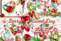 Berry Sweet Day / A gorgeous strawberry themed scrapbook kit filled with all the berry goodness you would need for any project or party you might have in mind. / by Raspberry Road Designs