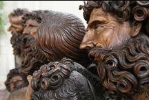 Historical wooden sculptures
