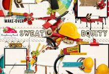 Sweat Equity Collection / A digital scrapbook kit for the do-it-yourselfer or people who just enjoy creating things.