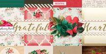 Grateful Heart Collection / A beautiful jewel toned digital scrapbook collection from Raspberry Road Designs. http://www.raspberryroaddesigns.net/shoppe/