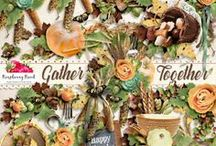 Gather Together Scrapbook Kit / A Thanksgiving inspired digital scrapbook collection.