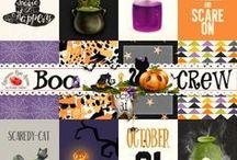 BOO CREW Collection / A fun Halloween themed digital scrapbook kit.