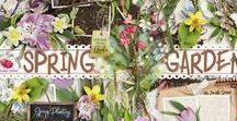 Spring Garden / A beautiful spring garden themed scrapbook collection.