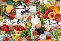 Farmhouse Kitchen Collection. / A farm to table themed digital scrapbook collection.