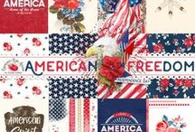 American Freedom Scrapbook Collection / A beautiful americana themed scrapbook collection.