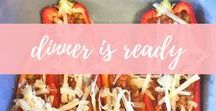 Dinner is Ready! / Family dinners, easy recipes, dinner ideas, healthy dinner recipes and weeknight dinners. Anything to get everyone eating together and enjoying, care of the BBQ, crockpot, one pot and skillet.