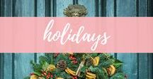 Holidays / Christmas, Valentines, Easter, Thanksgiving, Halloween - inspiration and ideas for holiday recipes, crafts and family traditions.