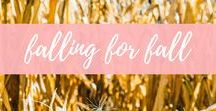 falling for fall / I love the autumn and fall season. This board covers all things fall... fall activities, comfort food recipes, fall decor, fall outfits and more!