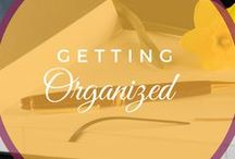 Getting Organized / Calendars, to do lists, and journals to organize your mind and increase productivity. Container organization, storage, and other ways to organize your surroundings.