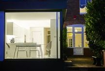 Velwell Road / This project involved the transformation of a dated Edwardian house into a contemporary, light filled family home. This included a new glass extension to the rear of the property which connects the internal space to the garden and green landscape beyond.