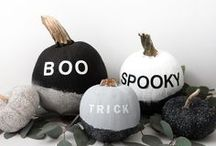 Halloween Pumpkins / Greet trick-or-treaters and have a spooky Halloween with these simple, no-carve pumpkin ideas.