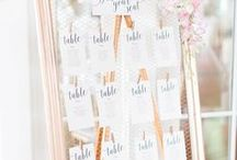 Escort Cards, Table Numbers & Seating Plans