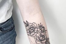 Inked / Mostly minimalist, botanical and lettering tattoos.
