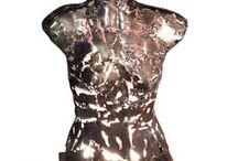 Sculpture Didier Dedeurwaerder / sculpture métal bois luminaire décoration