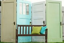 ways to use an old door
