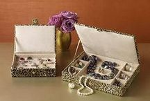 Jewelry Boxes / We're always looking for more ways to organize our ever-evolving jewelry collections. We're pinning our favorite jewelry boxes, jewelry travel cases, watch cases, men's valet chests and jewelry mirror organizers.