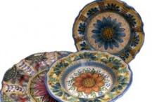 Servizi di piatti / Piatti realizzati e decorati a mano dall'artista Antonio Robustella. Tutti pezzi unici di straordinaria originalità