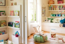 Organize | Playroom / Creative ways to store kids art supplies, display their art and toy organization. / by Leanne {Organize & Decorate}