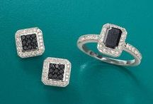 Black Diamonds / We're intrigued by black diamond jewelry. Whether contrasting with white diamonds or on their own, black diamonds stand out. Hope you like our pins! / by Ross-Simons Jewelry