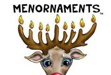 """MENORNAMENTS / I started this business making Chanukah and interfaith ornaments.  Menorah + Ornaments = MENORNAMENTS ... """"Jewery"""" for your interfaith tree"""