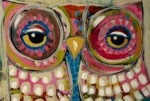 Birds of the night / Owl and night bird art