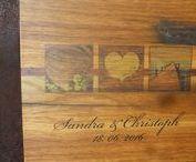 Fotobuch Gästebuch Hochzeit Holz handgebunden Fotoalbum