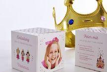 """PRINCESS EINLADUNG / Du suchst für deine kleine Prinzessin, schöne und überraschende Einladungen für ihre große Party? Dann nutze das Einladungs-Template """"Princess"""" mit tollen Motiven und einer süßen Gestaltung."""