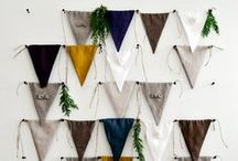 garlands. / bunting / banners / swag