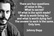 Just Johnny Depp / Johnny's the coolest cat on the planet and my favourite actor too!