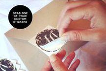 Sticker for wedding card envelopes