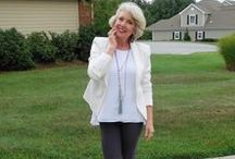 Fifty, not Frumpy Style / There are very few pictures of women over fifty or sixty in advertising so I use my own photos to show how I put together reasonably priced wearable outfits. I am Susan, the editor of the blog FiftynotFrumpy.com and now SusanAfter60.com.  I am sixty years old and I am five feet six and a half inches tall and weigh one hundred and forty-five pounds.