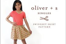 Oliver + S swingset skirt inspiration / The new Swingset Skirt sewing pattern is available in a complete size range from 6-12 months through size 14! Here are some photos to get you inspired to make your own version of this versatile, simple skirt.  / by Liesl Gibson