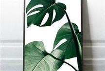 Tropical Leaf, Tropical Decor, Coastal Prints, Ocean Waves, Banana Leaf, Monstera Leaf / Tropical and Coastal Prints, Instant Downloads