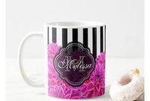 All Fancy Stuff Mugs / Coffee mugs designed by P. Mackey for All Fancy Stuff Gift Shoppe.
