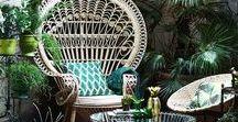 Tendances déco / Interior design, livingroom, urban jungle and luxury trends